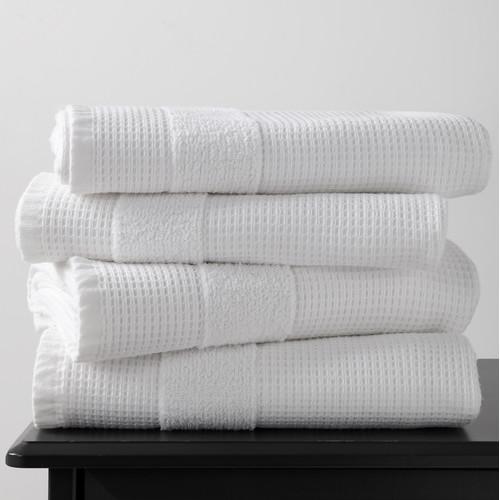 Home Innovations White 600GSM Waffle Bath Sheet