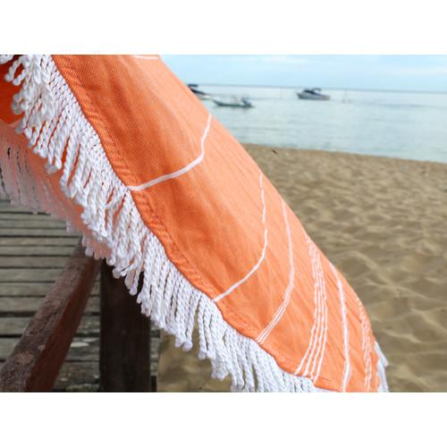 Home Innovations De La Mer Orange Round Turkish Towel
