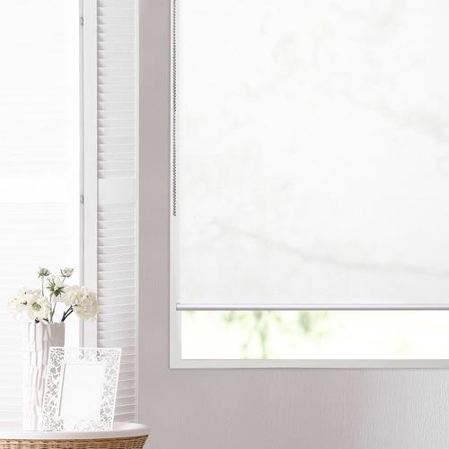 Home Innovations White Blackburn Translucent Roller Blind