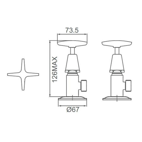 Fountain Bathware Seastar Washing Machine Tap