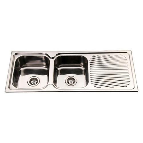 Fountain Bathware Stainless Steel Double Sink