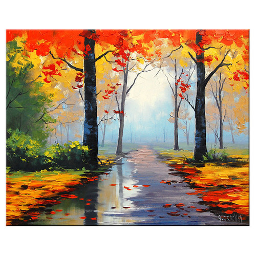 Oil Painting Autumn Splendor Hand Painted Oil On Canvas