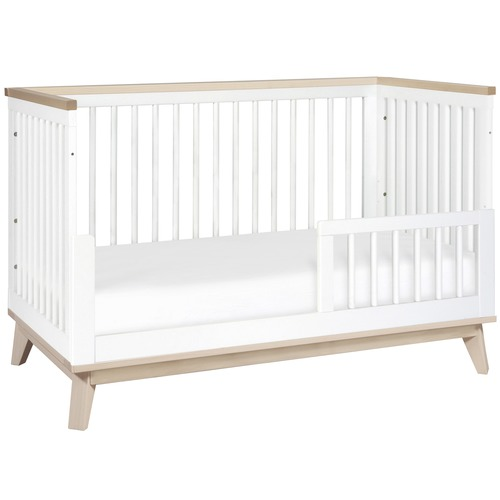 babyletto Scoot New Zealand Pine Wood Cot