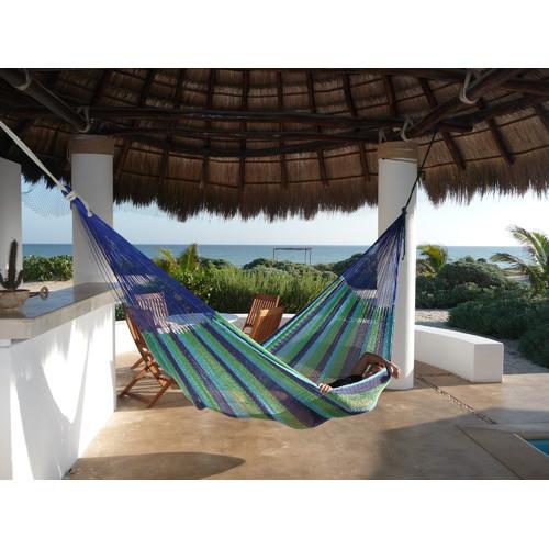 Mayan Legacy Cotton Jumbo Plus Hammock in Oceanica