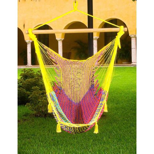 Mayan Legacy XL Mexican Hammock Swing Chair