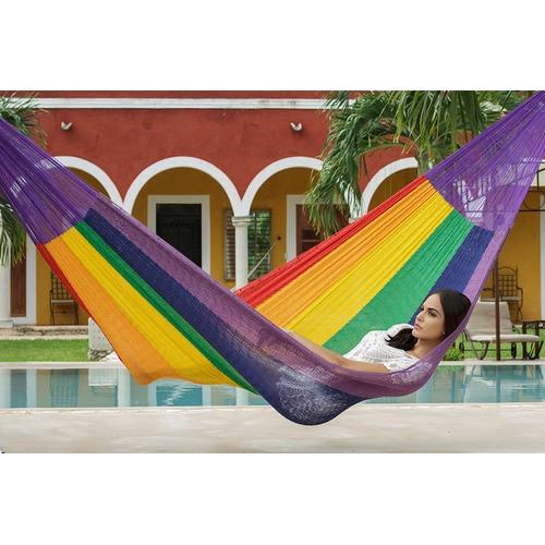 Leyla & Sol Rainbow Cotton Hammock