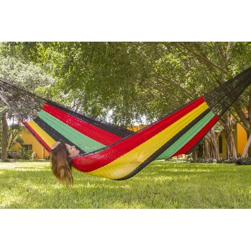 Mayan Legacy Rasta Outdoor Cotton Hammock