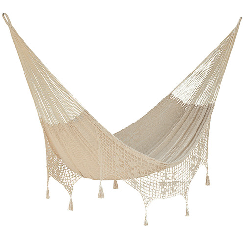 Cotton Hammock with Fringe in Cream