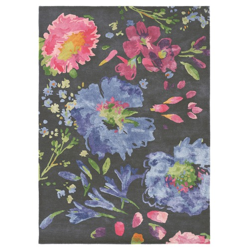 Bluebellgray Kippen Floral Wool Blend Rug