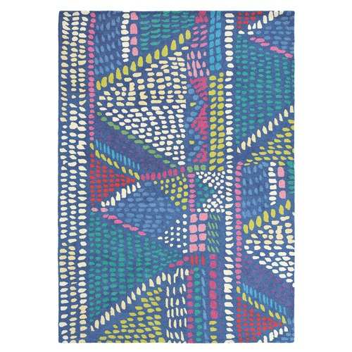 Brink & Campman Bluebellgray Palais Geometric Wool Rug