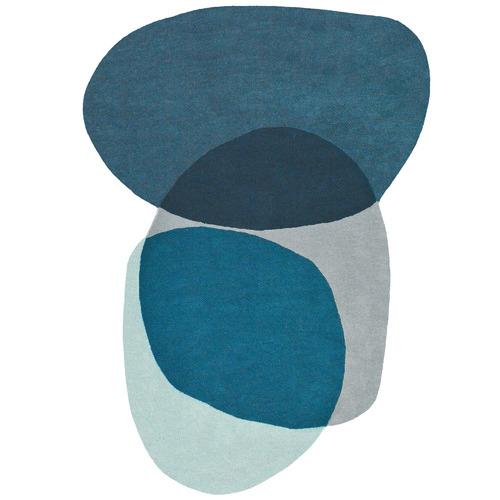 Brink & Campman Blue Swatch Hand-Tufted Wool Rug