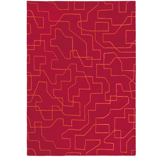 Red Brink Hand-Made Wool Rug