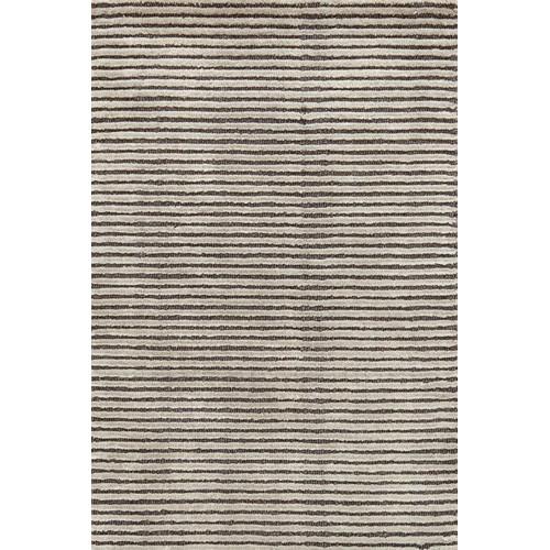 Grey Charcoal Cut Stripe Rug Temple Amp Webster