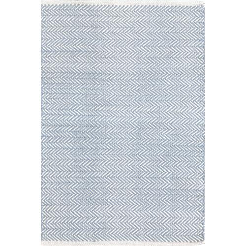 Dash & Albert Rug Company Herringbone Swedish Blue Woven Rug