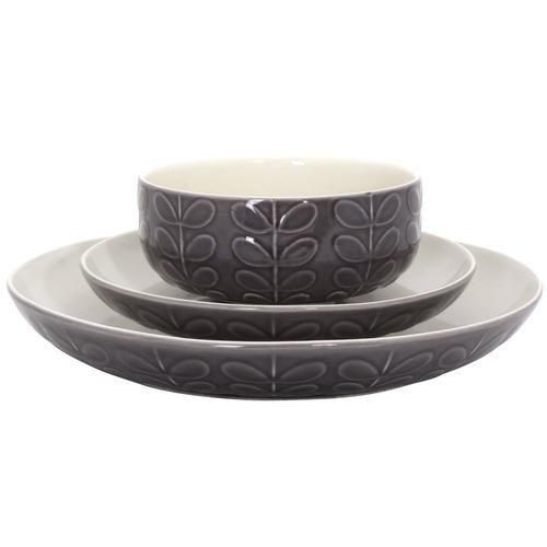 Orla Kiely Charcoal Ceramic Stem Side Plates