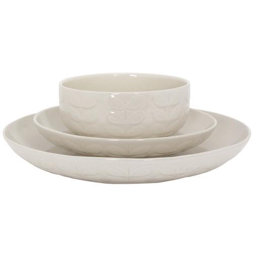 Orla Kiely Cream Ceramic Stem Side Plates