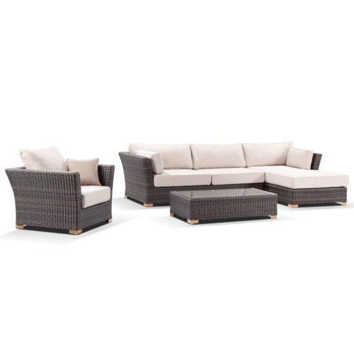 Greenport Outdoor Coco 4 Seater Outdoor Chaise Lounge & Armchair Set