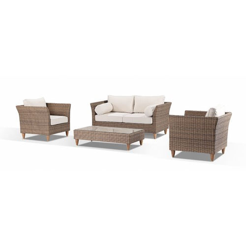 Greenport Outdoor Harper 4 Seater Outdoor Lounge Set