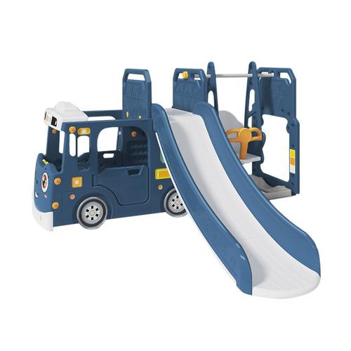 All 4 Kids Lucas Bus Baby Slider & Swing Play Centre