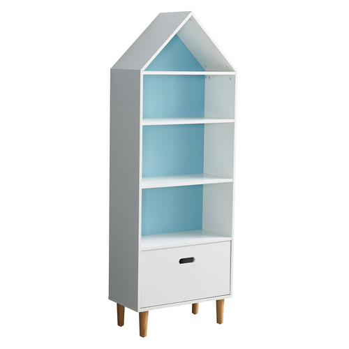 All 4 Kids White & Blue Ivy Bookcase
