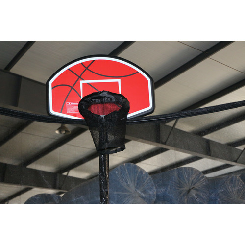 All 4 Kids 6ft Spring Trampoline with Safety Net & Basketball Board