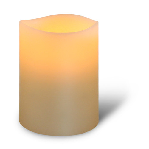 Enjoy Lighting Classic Ivory Smooth LED Wax Pillar with Timer