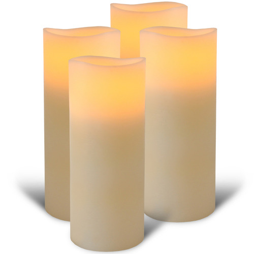 Enjoy Lighting Everyday Neutrals LED Wax Pillars with Timer