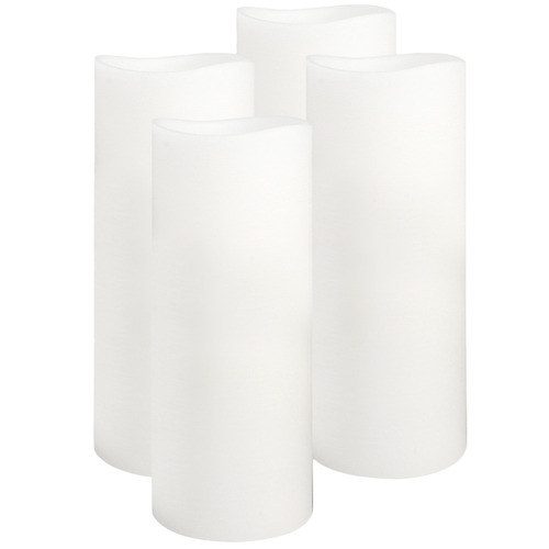 Enjoy Lighting Everyday Neutrals LED Wax Pillars with Timer