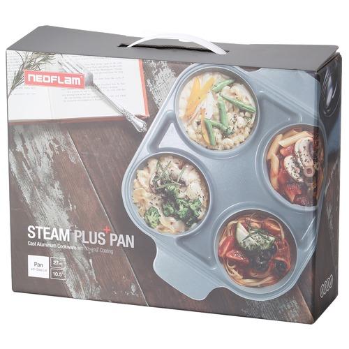 Neoflam Red & Grey Steam Plus II 27cm Fry Pan