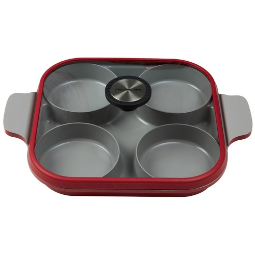 Neoflam Red & Grey Steam Plus II 27cm Fry Pan
