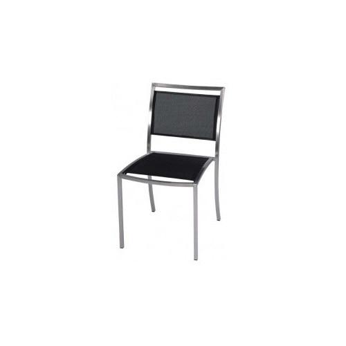 R&V Living Mesh Dining Chair in Black / White