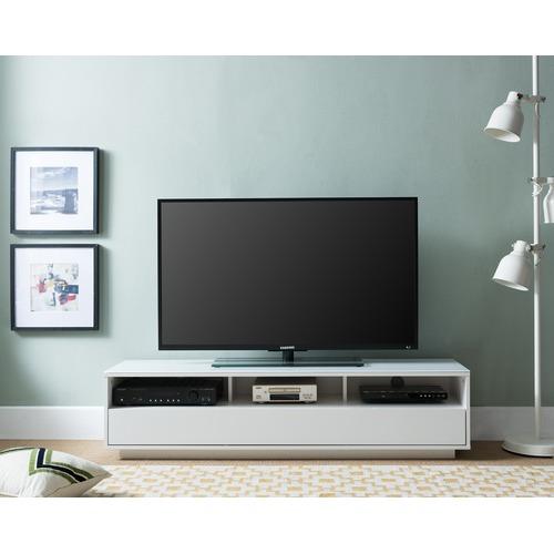 KD Furniture 150cm White Lowline Modern Entertainment Unit