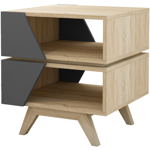 KD Furniture Nordic Oak Wood End Table