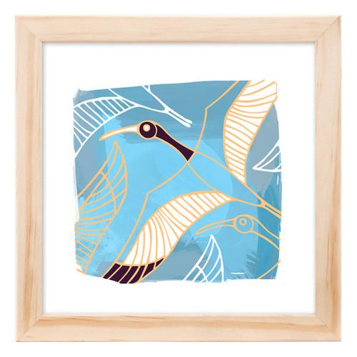 Corban & Blair Ibis Blue Framed Print
