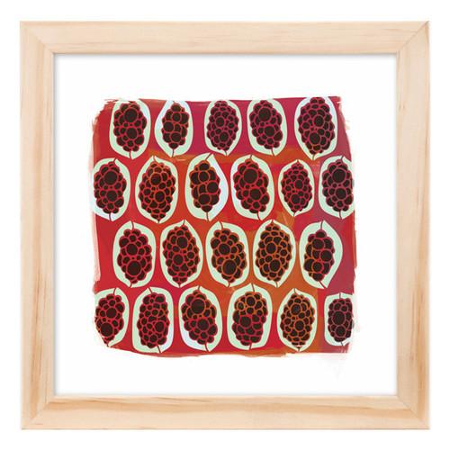 Corban & Blair Bush Passionfruit Red Framed Print
