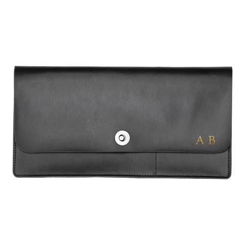 Corban & Blair Basics Black Travel Wallet