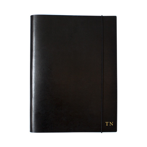 A4 Black Leather Journal