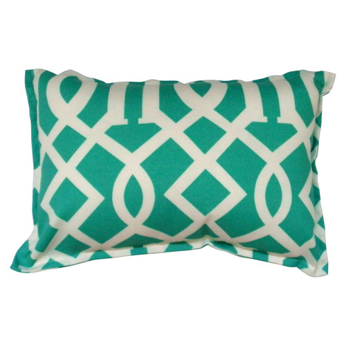 Bungalow Living Green Arch Accent Pillow
