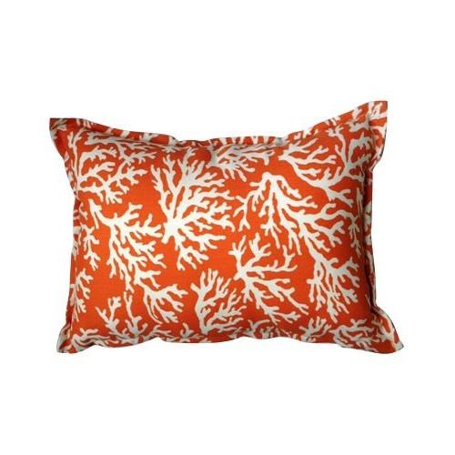 Bungalow Living Coral Orange Accent Pillow