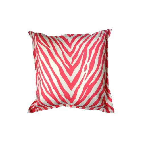 Bungalow Living Pink Zebra Accent Pillow