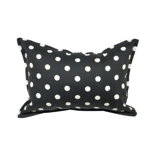 Bungalow Living Noire and Ivoire Bouton Accent Pillow