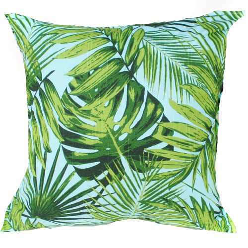 Bungalow Living Aqua Rainforest Indoor/Outdoor Cushion