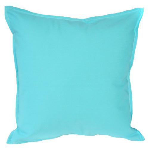 Aqua Solid Indoor/Outdoor Cushion Bungalow Living