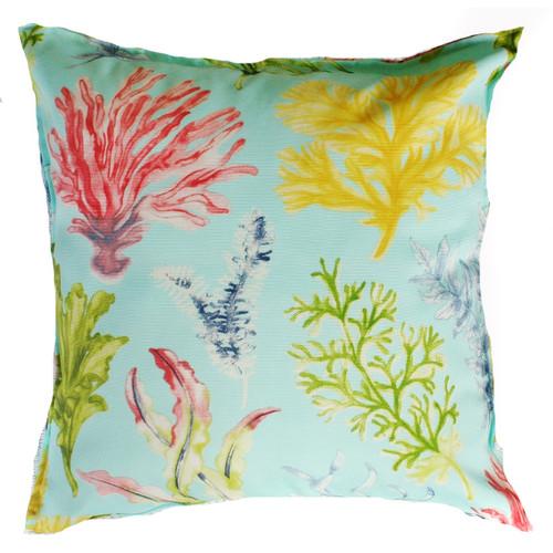 Aqua Coral Garden Outdoor/Indoor Cushion