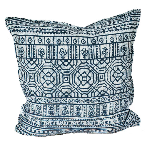 Bungalow Living Indigo Batik Indoor/Outdoor Cushion