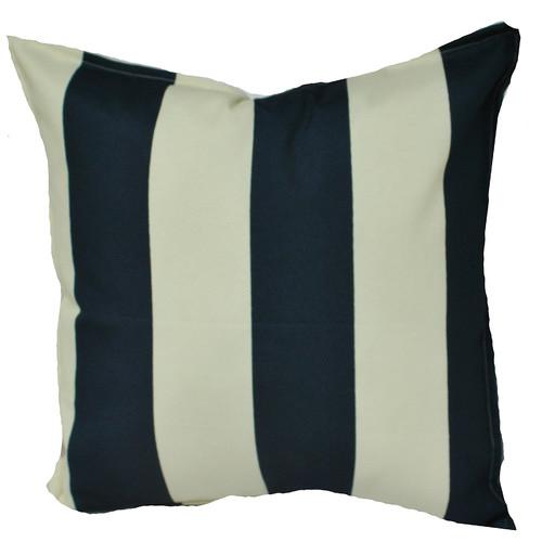 Navy & Ivory Stripe Indoor/Outdoor Cushion