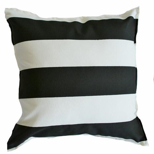 Bungalow Living Noire and Ivoire Ligne Accent Pillow