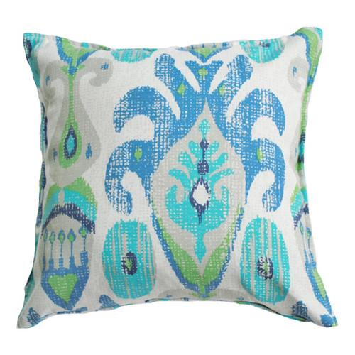 Bungalow Living Ocean Ikat Indoor Outdoor Cushion