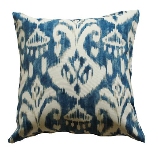 Indigo Ikat Indoor Outdoor Cushion
