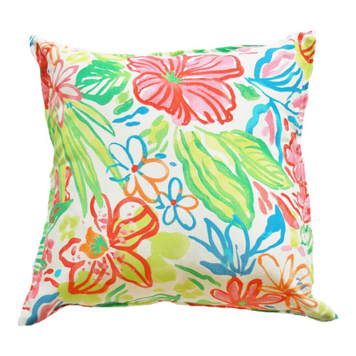 Bungalow Living Watercolour Floral Indoor Outdoor Cushion